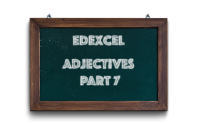 Edexcel GCSE French vocabulary – Adjectives – Part 7