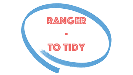 Ranger (to tidy) in the present tense in French